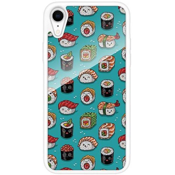 Apple iPhone XR Vitt Mobilskal med Glas Sushi Sweeties
