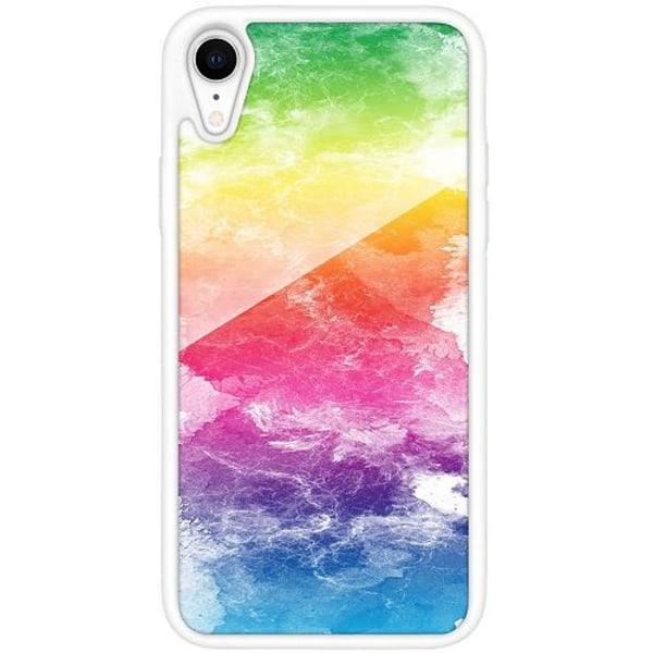 Apple iPhone XR Vitt Mobilskal med Glas Pride