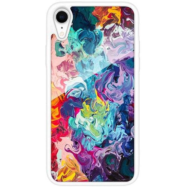 Apple iPhone XR Vitt Mobilskal med Glas Färg