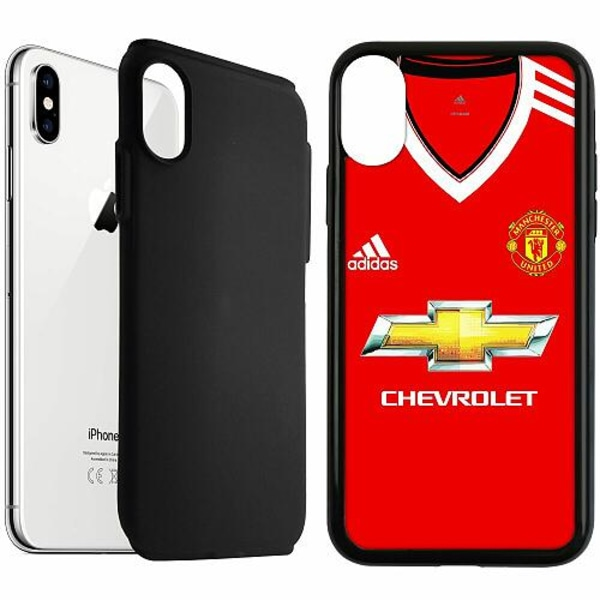Apple iPhone XS Max Duo Case Svart Manchester United FC