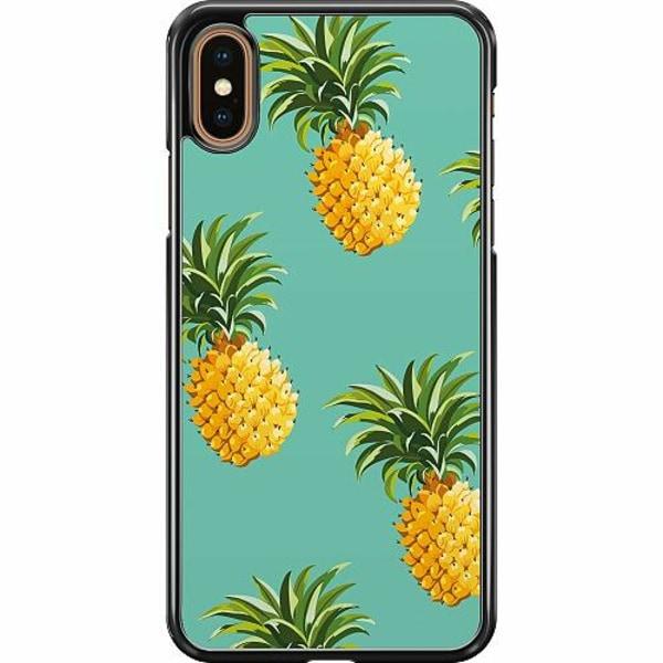 Apple iPhone XS Max Hard Case (Svart) Ananas