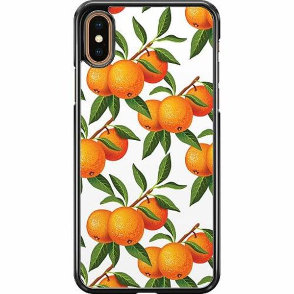 Apple iPhone XS Max Hard Case (Svart) Apelsin