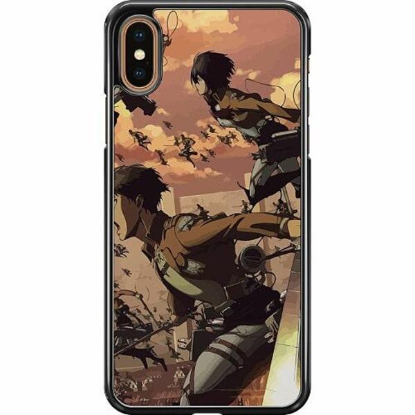 Apple iPhone XS Max Hard Case (Svart) Attack On Titan