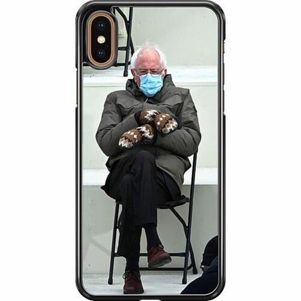 Apple iPhone XS Max Hard Case (Svart) Bernie Sanders Meme