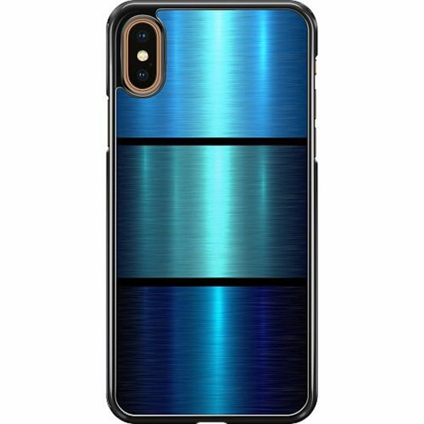 Apple iPhone XS Max Hard Case (Svart) Blå