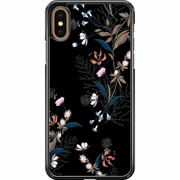 Apple iPhone XS Max Hard Case (Svart) Blommor