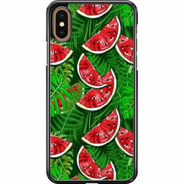 Apple iPhone XS Max Hard Case (Svart) Bushy Melons