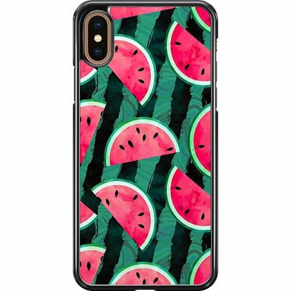 Apple iPhone XS Max Hard Case (Svart) Crazy for Watermelon