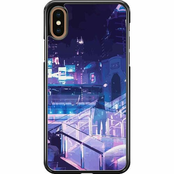 Apple iPhone XS Max Hard Case (Svart) Cyberpunk 2077