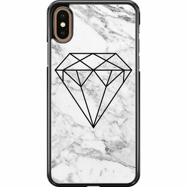 Apple iPhone XS Max Hard Case (Svart) Diamant
