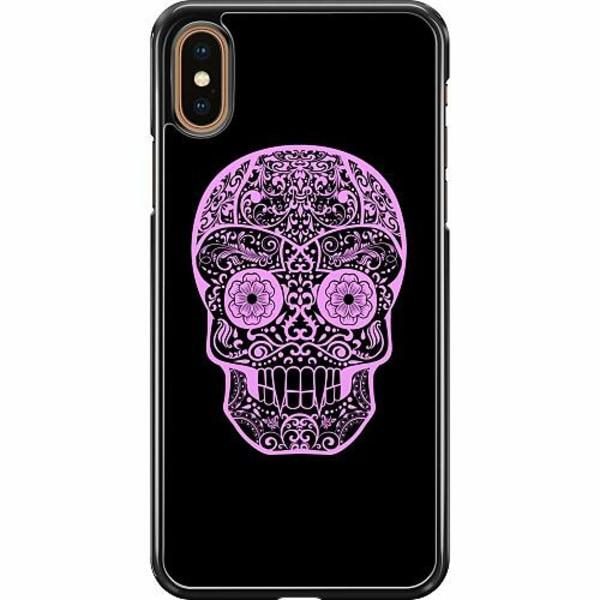 Apple iPhone XS Max Hard Case (Svart) Döskalle