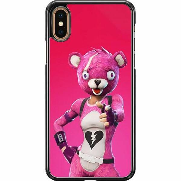 Apple iPhone XS Max Hard Case (Svart) Fortnite Pink Bear