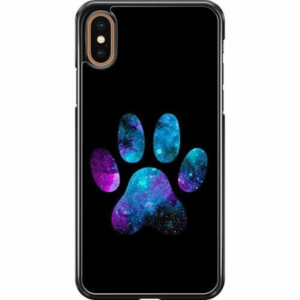 Apple iPhone XS Max Hard Case (Svart) Galaxy Paw