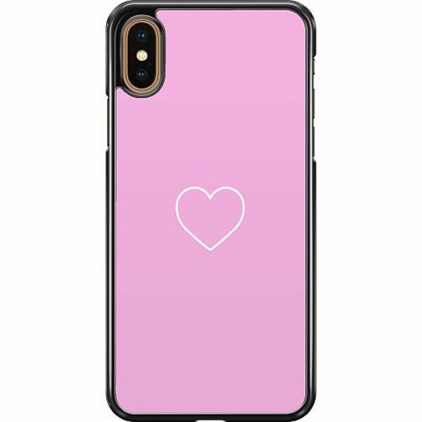 Apple iPhone XS Max Hard Case (Svart) Hjärta