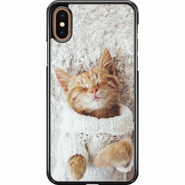 Apple iPhone XS Max Hard Case (Svart) Katt