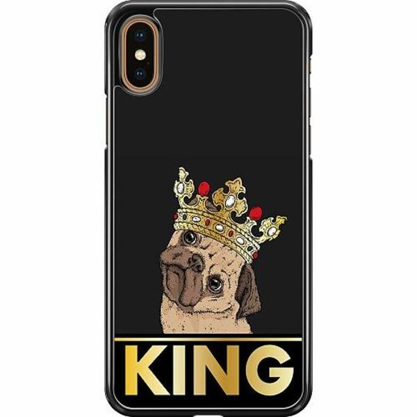 Apple iPhone XS Max Hard Case (Svart) KING of all Pugs