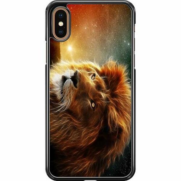 Apple iPhone XS Max Hard Case (Svart) Lejon