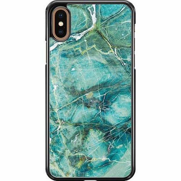 Apple iPhone XS Max Hard Case (Svart) Light Emerald