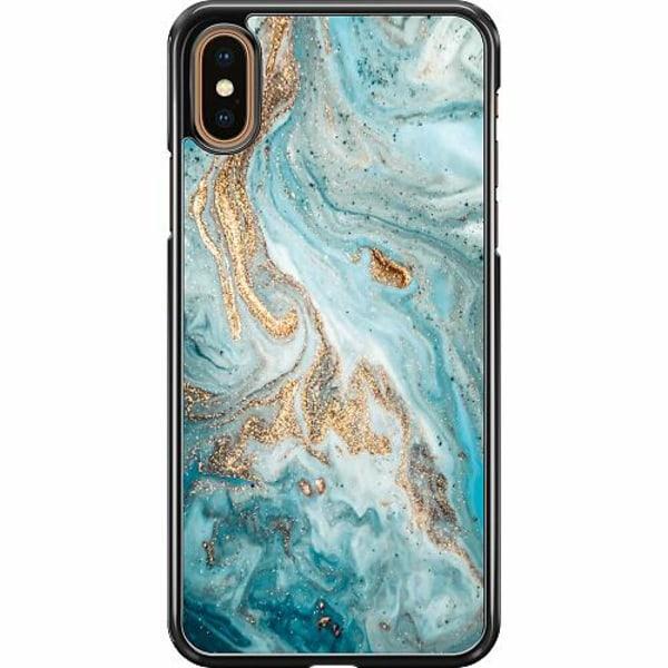 Apple iPhone XS Max Hard Case (Svart) Magic Marble