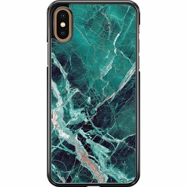 Apple iPhone XS Max Hard Case (Svart) Marmor
