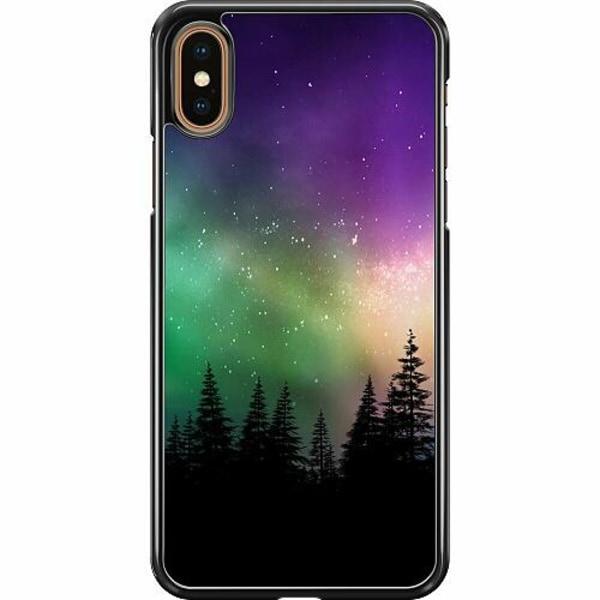 Apple iPhone XS Max Hard Case (Svart) Northern Lights