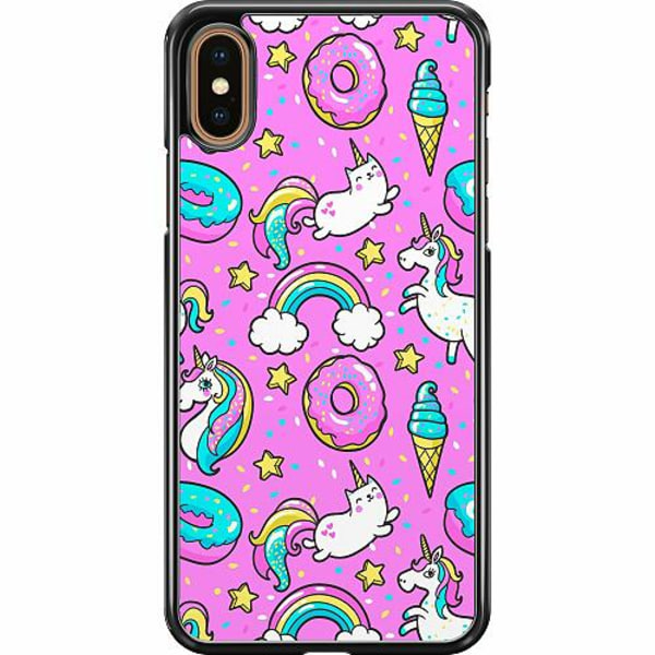 Apple iPhone XS Max Hard Case (Svart) Unicorns
