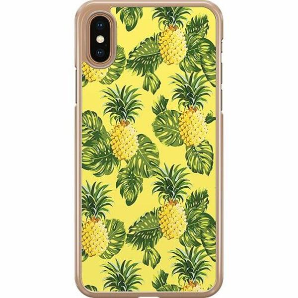 Apple iPhone XS Max Hard Case (Transparent) Ananas