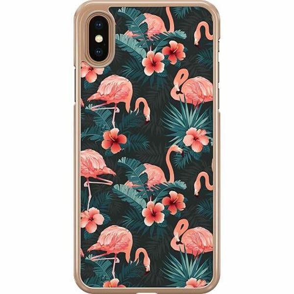 Apple iPhone XS Max Hard Case (Transparent) Flamingo