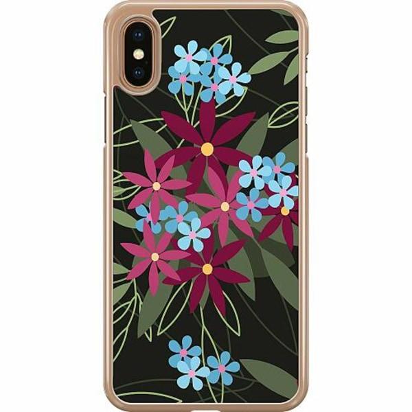 Apple iPhone XS Max Hard Case (Transparent) Flowerz