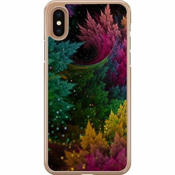 Apple iPhone XS Max Hard Case (Transparent) Pixel Forest