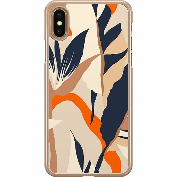 Apple iPhone XS Max Hard Case (Transparent) Powered By Beige