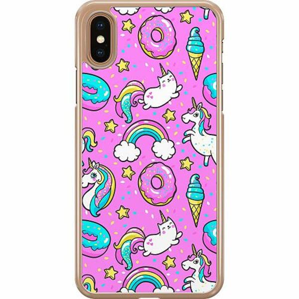 Apple iPhone XS Max Hard Case (Transparent) Unicorn