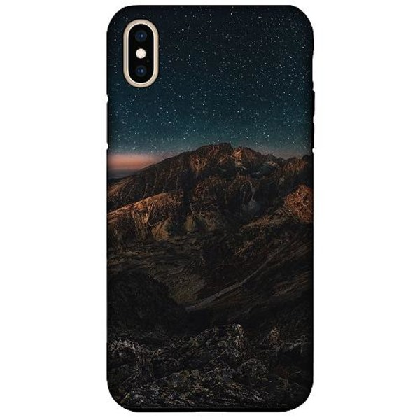 Apple iPhone XS Max LUX Duo Case (Matt) Galaxy Mountaintop