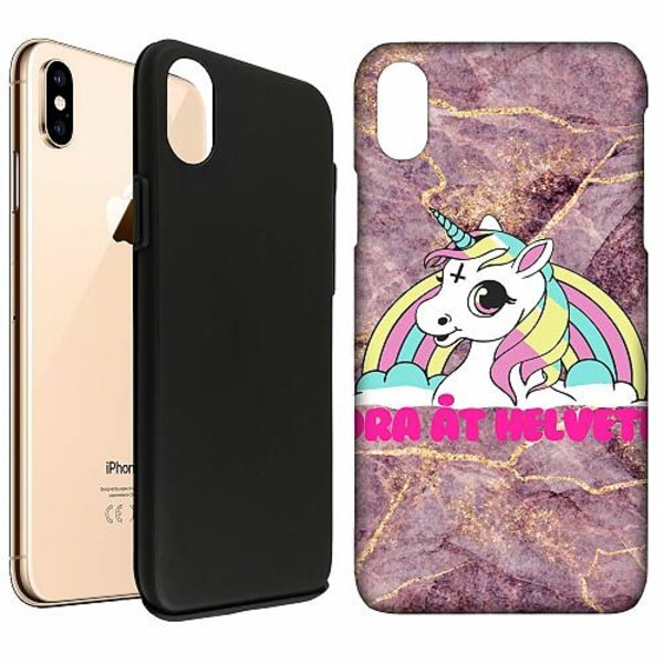Apple iPhone XS Max LUX Duo Case (Matt) Unicorn - Dra Åt @!#