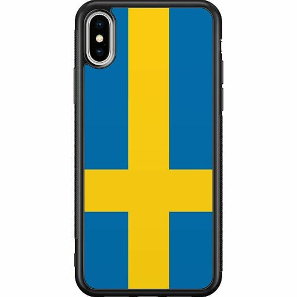 Apple iPhone XS Max Soft Case (Svart) Heja Sverige / Sweden