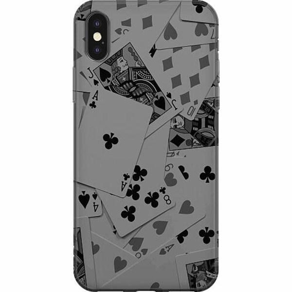 Apple iPhone X / XS Mjukt skal - Dark Cards