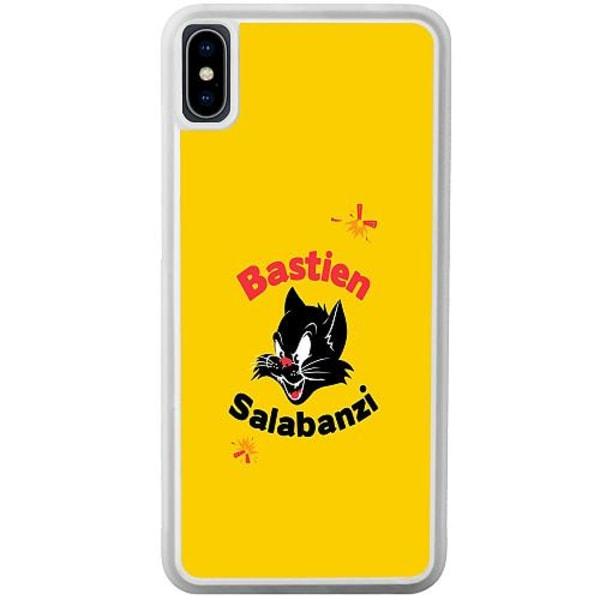 Apple iPhone XS Max Transparent Mobilskal Black Cat