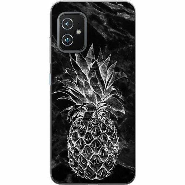 Asus Zenfone 8 TPU Mobilskal Marmor Ananas