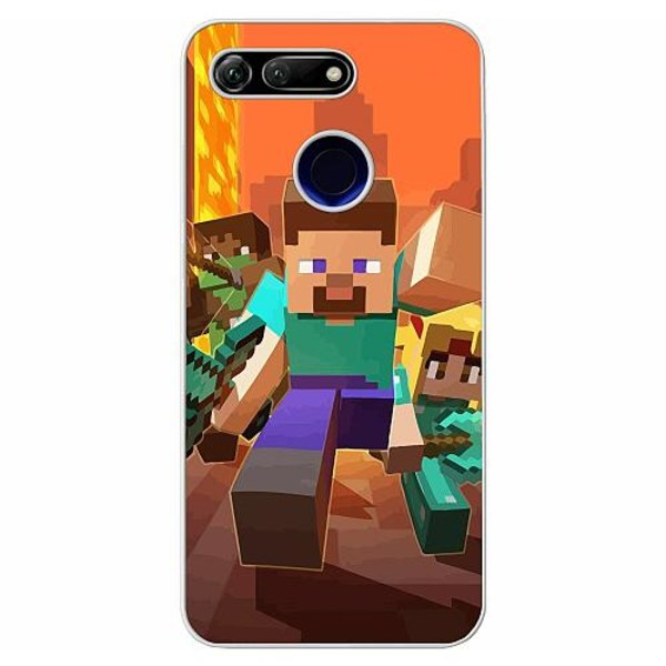 Huawei Honor View 20 Soft Case (Frostad) MineCraft