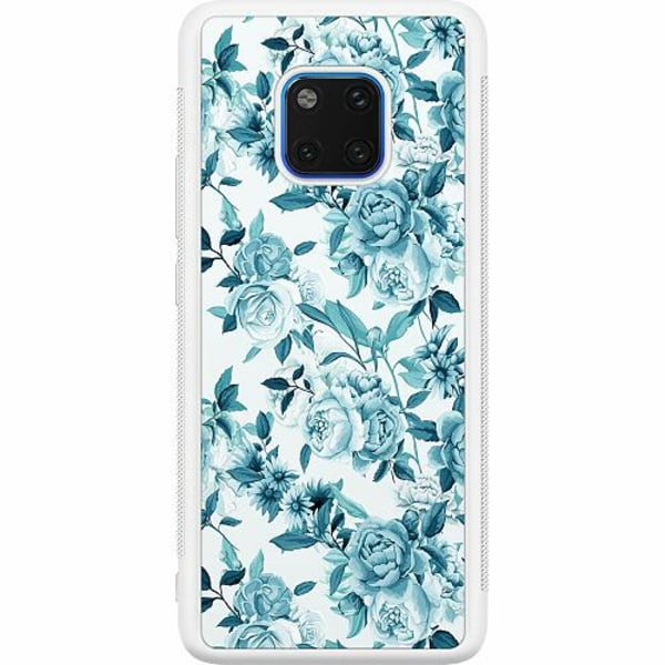 Huawei Mate 20 Pro Soft Case (Vit) Blommor
