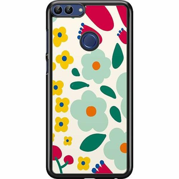 Huawei P Smart (2018) Hard Case (Svart) Baby Flowers