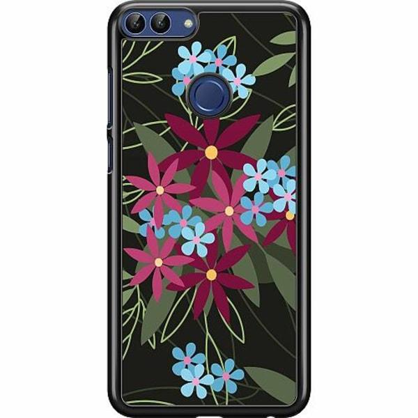 Huawei P Smart (2018) Hard Case (Svart) Flowerz