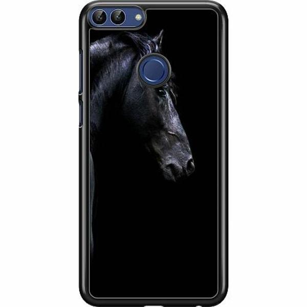 Huawei P Smart (2018) Hard Case (Svart) Häst / Horse