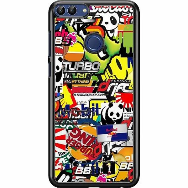 Huawei P Smart (2018) Hard Case (Svart) Stickers