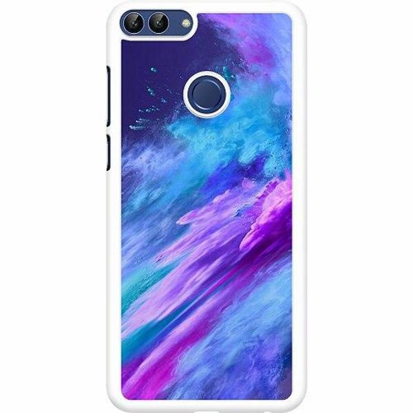 Huawei P Smart (2018) Hard Case (Vit) Crashing Purples