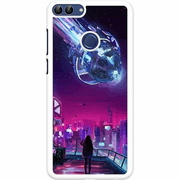 Huawei P Smart (2018) Hard Case (Vit) Cyberpunk 2077
