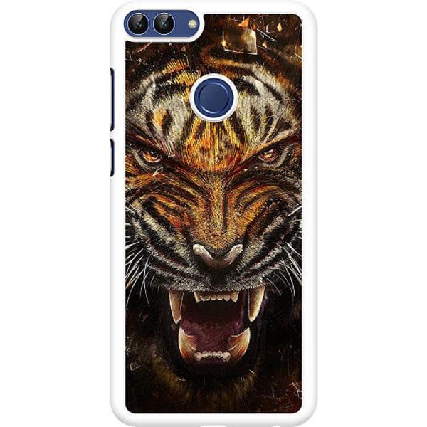 Huawei P Smart (2018) Hard Case (Vit) Angry Tiger