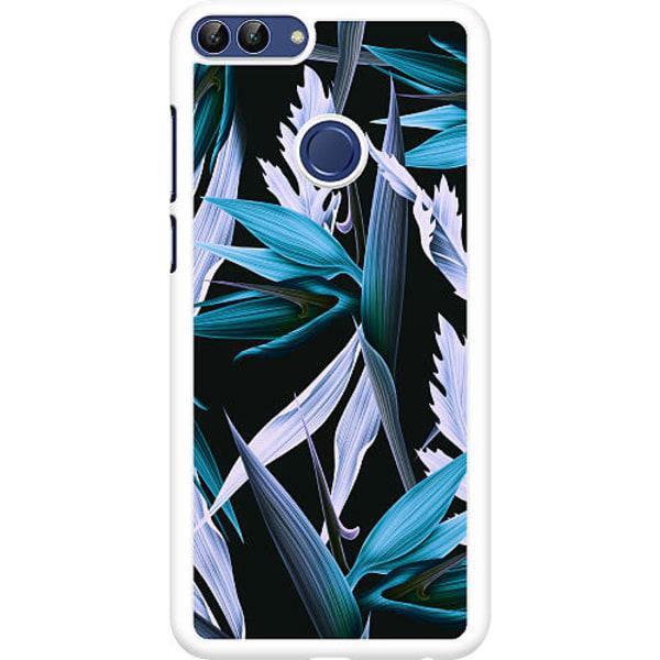Huawei P Smart (2018) Hard Case (Vit) Blue Flower