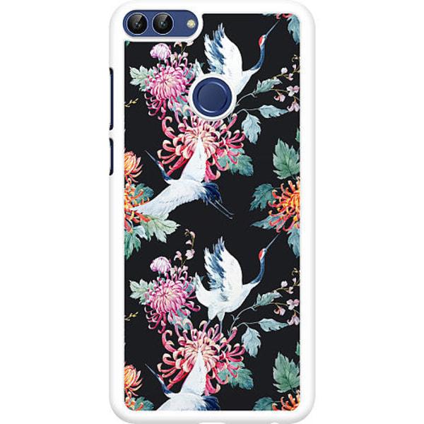 Huawei P Smart (2018) Hard Case (Vit) Botanical Birds