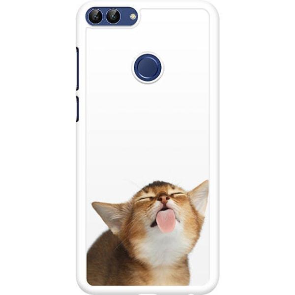 Huawei P Smart (2018) Hard Case (Vit) Cat Keeps You Clean